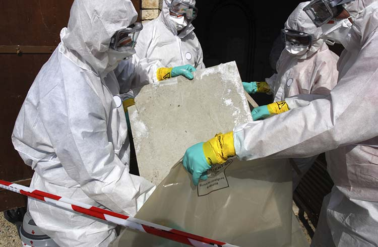 Image of One Stop Environmental performing residential asbestos removal