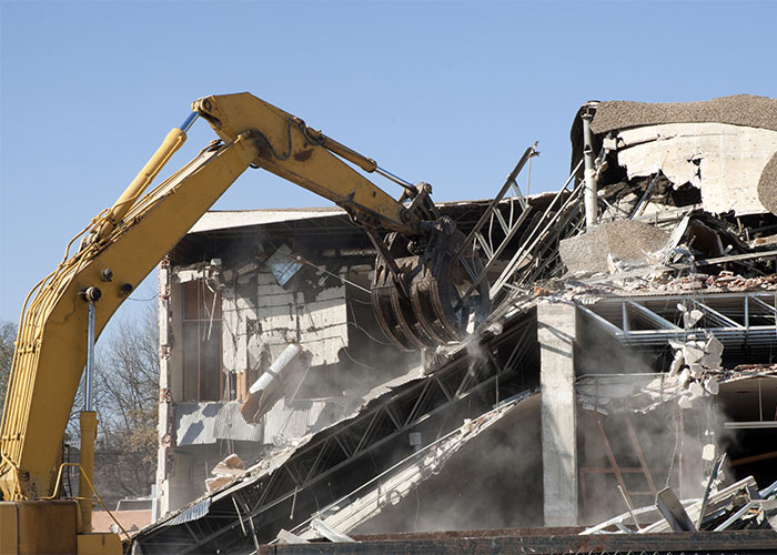 Image of a demolition project underway.