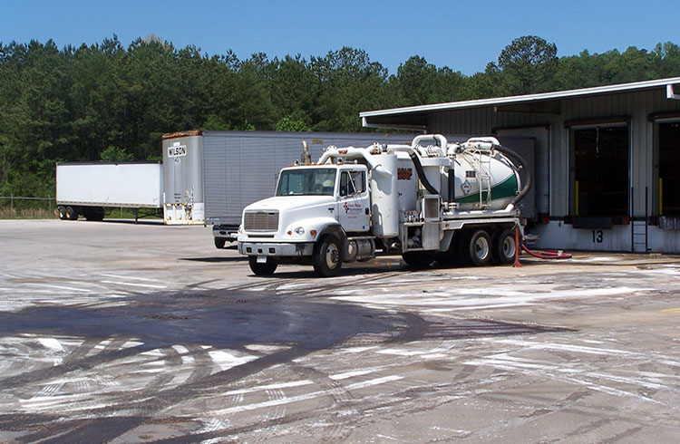 Image of One Stop Environmental's fleet of vacuum trucks
