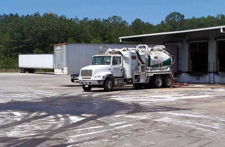 Image of One Stop Environmental's fleet of vacuum trucks